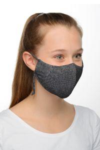 Genanvendeligt mundbind - dark grey