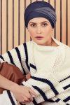 Emmy turban - denim