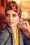 Sapphire turban sæt - signature flower