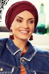 Sapphire turban sæt - wine red