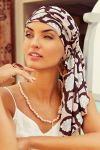 Sapphire turban sæt - rose feathers