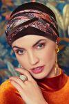 Scarlett turban sæt - velvet brown