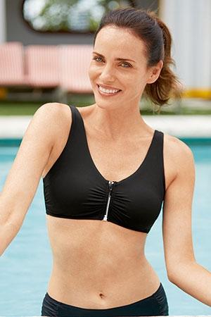 bikini med lommer til brystprotese
