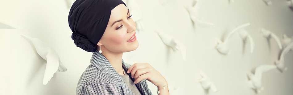 Hovedbeklædninger til kvinder i behandling for kræft