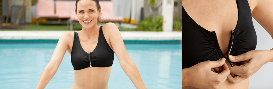 bikinier med lommer til brystproteser