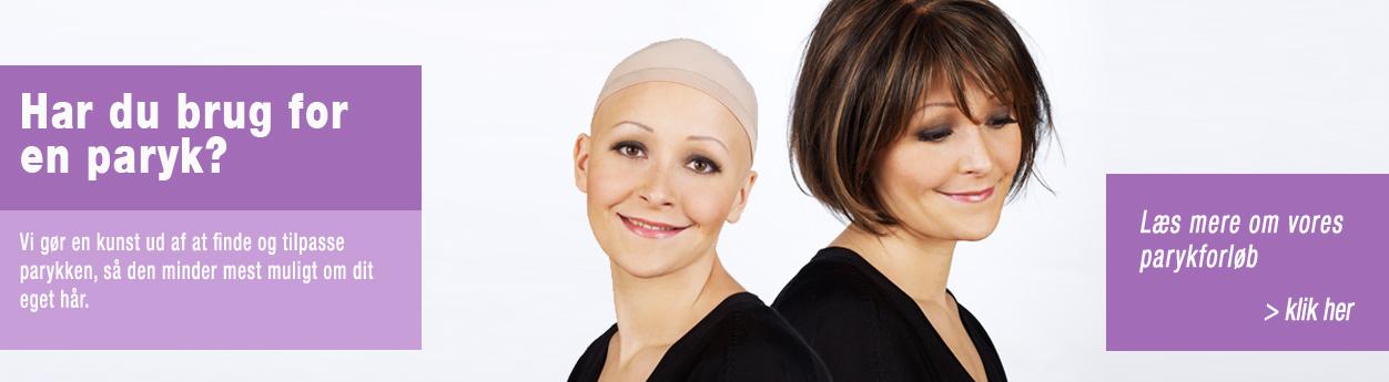 parykker til kvinder der lider af hårtab ifm. kræftbehandling med kemo eller stråler